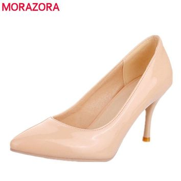 New Fashion high heels women pumps thin heel classic white red beige prom wedding shoe