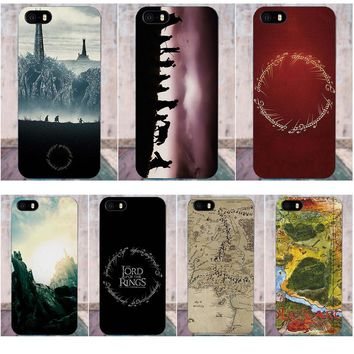 Soft TPU Mobile Case For Apple iPhone X 4 4S 5 5C SE 6 6S 7 8 Plus For LG G3 G4 G5 G6 K4 K7 K8 K10 V10 V20 Lord Of The Rings