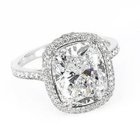 2.74 Ct. Cushion Cut Diamond Engagement Ring H, VS2 (EGL Certified): Diamond Engagement Rings - Diamond Solitaire Engagement Ring - Diamond Wedding Rings - Engagement Rings