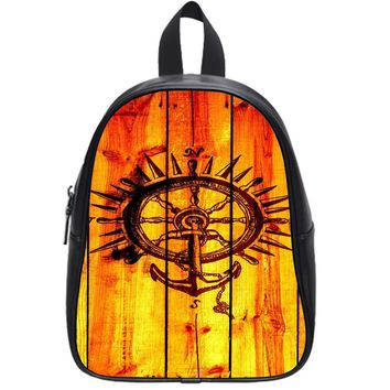 Anchor Compass Wood School Backpack Large