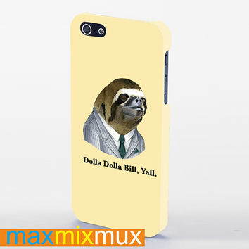 Dolla Dolla Bill Sloth iPhone 4/4S, 5/5S, 5C Series Full Wrap Case
