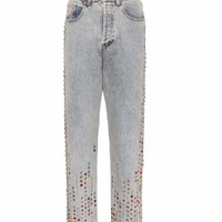 Crystal-embellished jeans