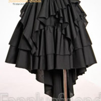 Elegant Gothic Aristocrat Tiered Phoenix Tail Skirt*2colors Instant Shipping