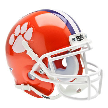 Clemson Tigers NCAA Authentic Mini 1-4 Size Helmet
