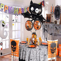 1PCS/L Bat Skull Foil Inflatable Balloons Happy Halloween Decoration Air Balloons Party Balloon Children's Gifts
