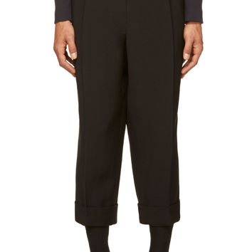 J.w.anderson Black Cropped Pillar Trousers