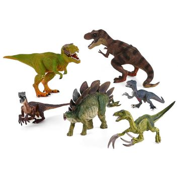Enjoybay Plastic T-rex Dinosaur Model Toys Tyrannosaurus Dragon Raptor Toy Jurassic Dinosaur Animal Mould Kids Educational Toy