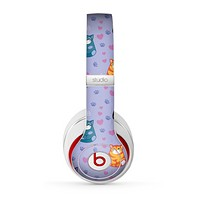 The Light Purple Fat Cats Skin for the Beats by Dre Studio (2013+ Version) Headphones