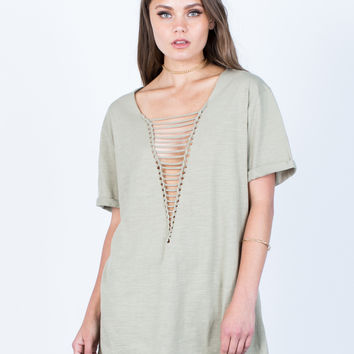 Plunging Caged Tunic