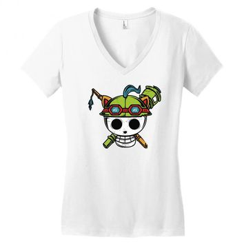 pirate scout Women's V-Neck T-Shirt