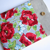 Poppies MacBook 13 sleeve with pockets, MacBook Pro 13 sleeve, MacBook Air 13 Case, MacBook Pro 13 case, MacBook Air sleeve
