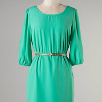 Classy & Simple Dress -- Mint
