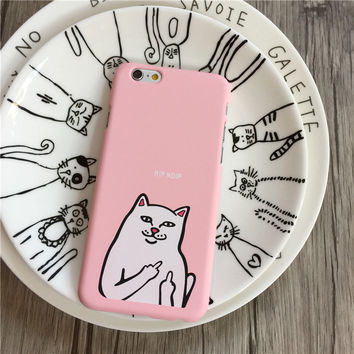 Pink Pocket Cat Ripndip Iphone 5 5s SE 6 6s 6plus 6splus 7 7plus Cover Case