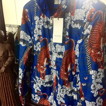 Gucci Bengal Jacket 'Size Large' (Rare Blue Color!! 🔥🔥) Must See!