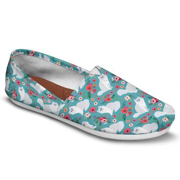Persian Cat Flower Casual Shoes