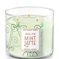 WHITE MINT LATTE3-Wick Candle