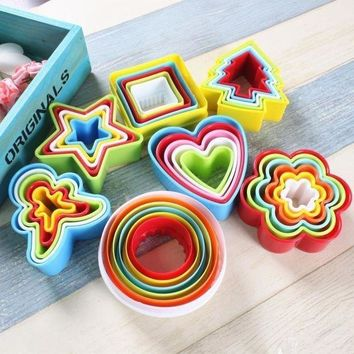 CREYLD1 1set DIY Mold Cake Cookie Cutters Bread Biscuit Sugar Craft Mold Patisserie Heart Shaped Decorating Tools Kitchen Accessories