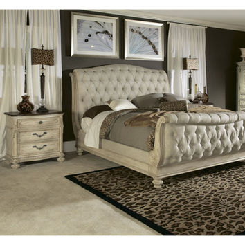 American Drew Jessica McClintock Boutique 2 Piece Bedroom Set in White