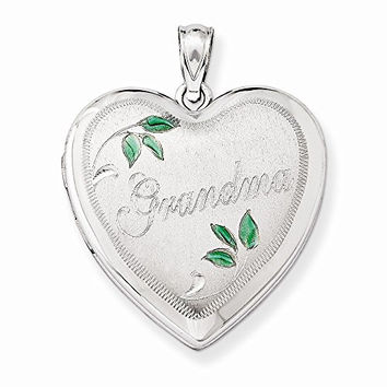 Sterling Silver 24mm Grandma Family Heart Locket, Best Quality Free Gift Box Satisfaction Guaranteed