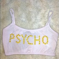 SWEET LORD O'MIGHTY! PSYCHO BABY BRALET IN WHITE