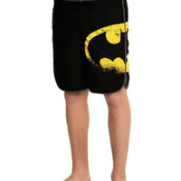 DC Comics Batman Distressed Logo Swim Trunks