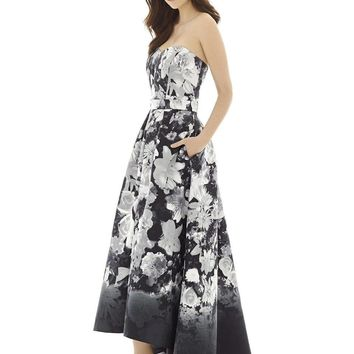 Alfred Sung - D699FP Bridesmaid Dress In Bohemian Floral