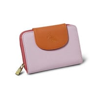 Hummingbird Napa Leather Wallet - Peony