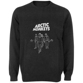 arctic monkeys band sweater Black and White Sweatshirt Crewneck Men or Women for Unisex Size with variant colour