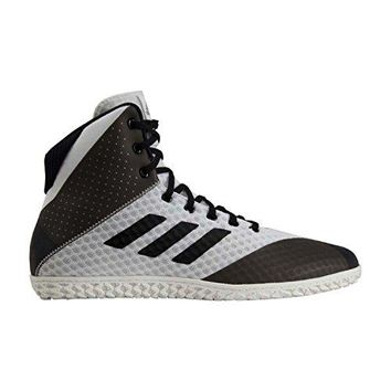adidas Mat Wizard 4 White Black Wrestling Shoes (AC6974)