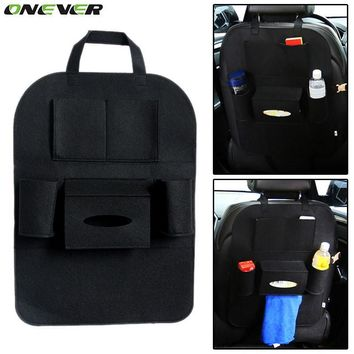 ONEVER High Grade Car Seat Bag Organizer Multi Pocket Insulation Automobile Seat Back Humanized Storage Bag Felt Covers