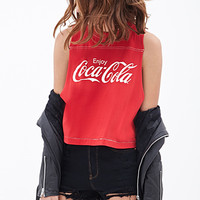 FOREVER 21 Coca-Cola Muscle Tee Red/White