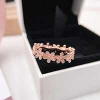 HCXX 117 Pandora Little Daisy Rose Gold Ring