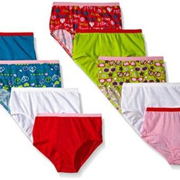 Fruit of the Loom Little Girls'  Brief, Assorted, 4(Pack of 9)