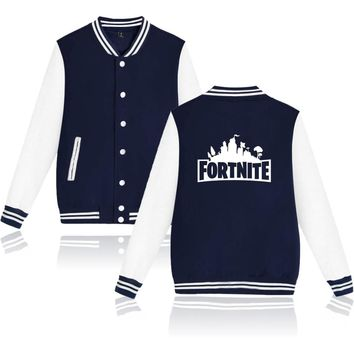 Fortnite Jacket Autumn And Fashion Jacket Women/men Jackets Fashion Coats Male Casual Stand Collar Bomber Jersey Men XXS To 4XL