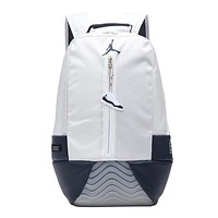 Jordan fashion men and women patchwork color backpacks are selling casual backpacks White