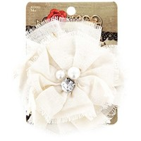 Natural Canvas Flower Clip & Pin with Pearl Center | Shop Hobby Lobby