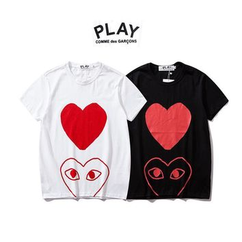 Round-neck Cotton Short Sleeve Couple T-shirts [3601544544340]