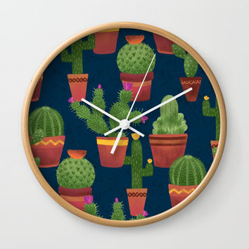 Terra Cotta Cacti Wall Clock by Noonday Design