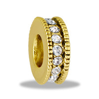 DaVinci Beads Large Gold CZ Wheel Jewelry
