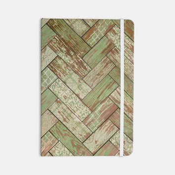 "Heidi Jennings ""Patina"" Green Wood Everything Notebook"