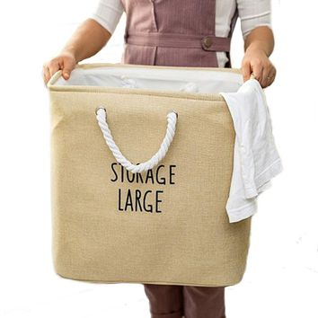 Large Portable EVA Dirty Laundry Basket for Clothes Foldable Laundry Hamper Storage Box Toys Books Magazine Organizer