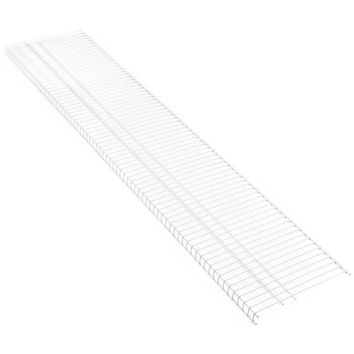 ClosetMaid® 473500 SuperSlide® Vinyl Coated Steel Ventilated Shelf, White, 6' x 16""