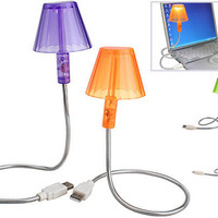 USB RETRO LAMP / 6 led lights with on-off switch - Available in Orange, Purple, Green and Blue