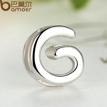 Brand 925 Sterling Silver G Alphabet Letter Pendant For Women Letter Necklace Silver Female Statement Jewelry SCN024-G