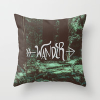Wander Throw Pillow by Leah Flores