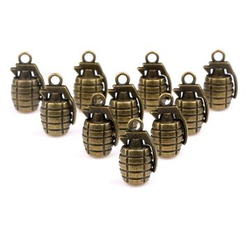 20 Pieces Courage and Power Bullet Charms Findings for Jewelry Pendants Necklace Making 22mm X 13mm