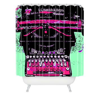 Romi Vega Antique Typewriter Shower Curtain