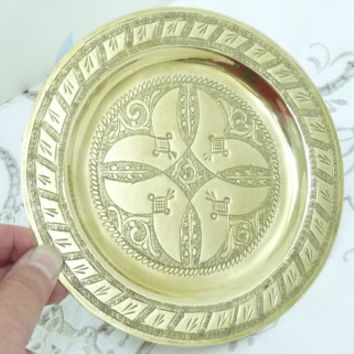 Small Brass Display Dish, Brass Wall Plate, Solid Brass, Wall Plate or Plaque, Homewares, Wall Display, Home Decoration