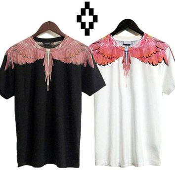 DCCKIJ2 Marcelo Burlon T-Shirts County of Milan Wings Feathers