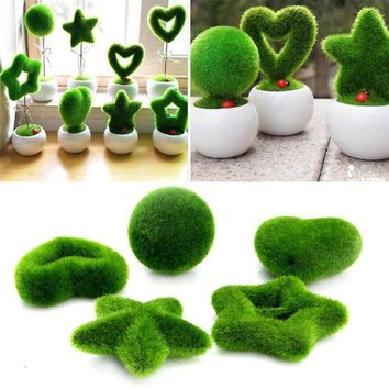 Fashion Artificial Fresh Moss Balls Green Plant Home Party Decoration